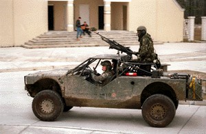 A mere Sport Utility Vehicle with a machine gun?