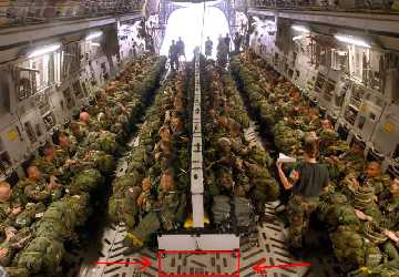 The C-17 is very roomy on the inside for more Paratroopers to be carried and with less fatigue over long distances