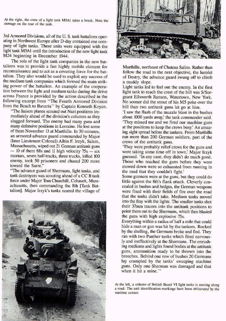U S  Army employs light tanks but doesn't admit it
