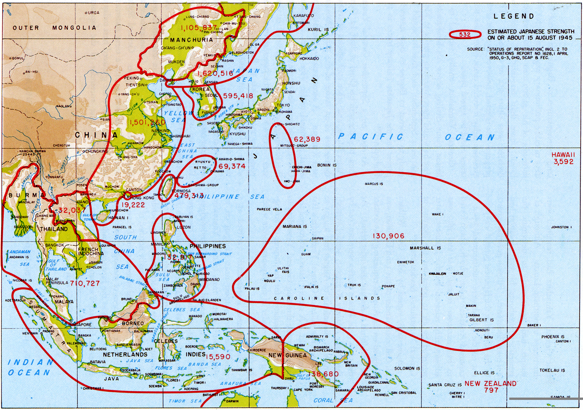 The Pattern Of War An INTERACTIVE EXAMINATION - Japan map before world war 2