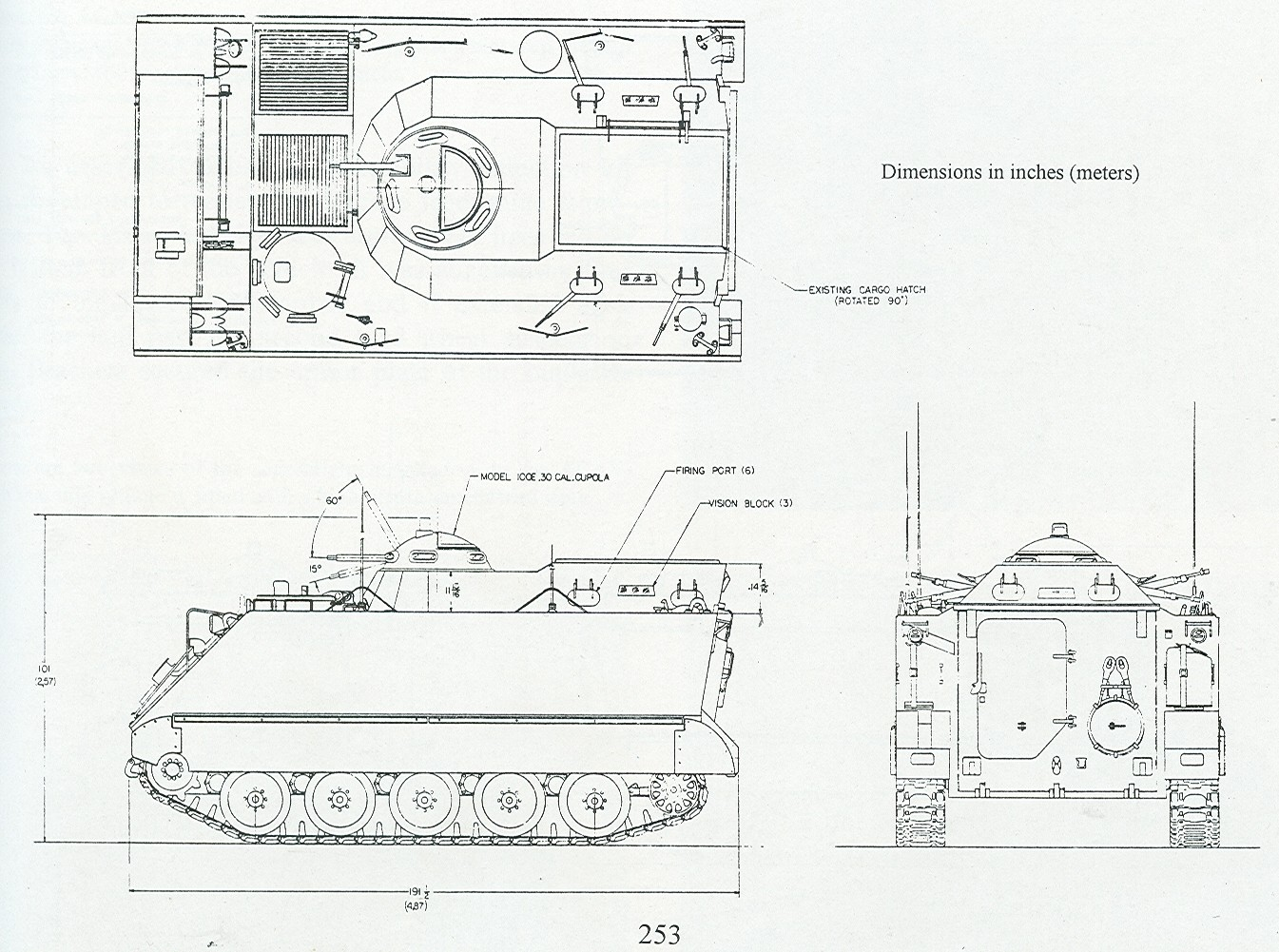 M113 Line Drawing in Our M113 Gavins But