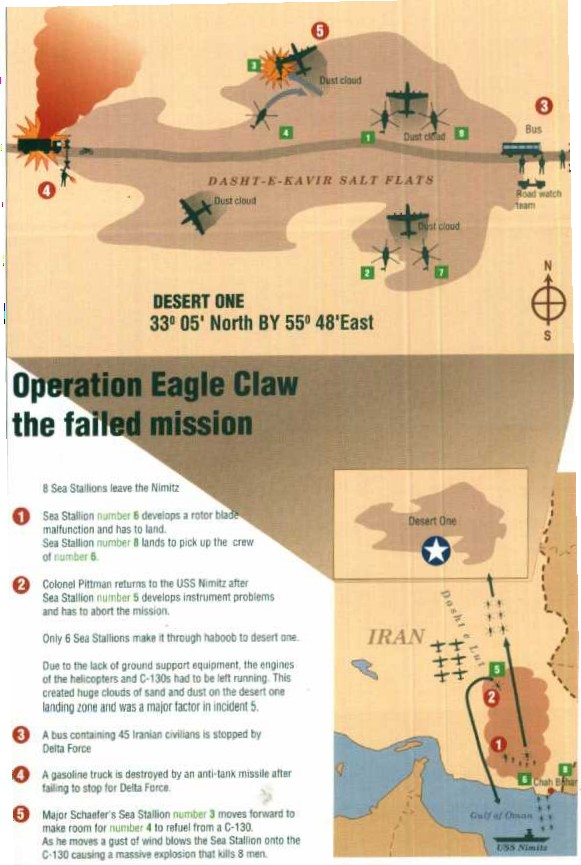Operation Eagle Claw Map