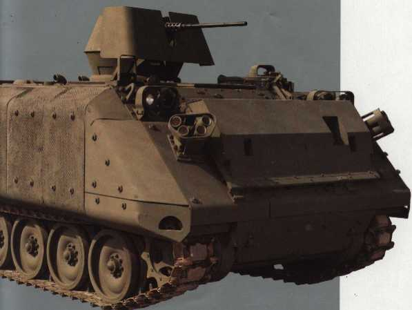 M113As Gavin with applique' armor and ACAV gunshields
