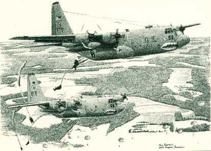 Charlie 130 parachute jump