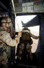 The spacious jump doors of the C-17 will greatly help paratroopers exiting cleanly from the aircraft