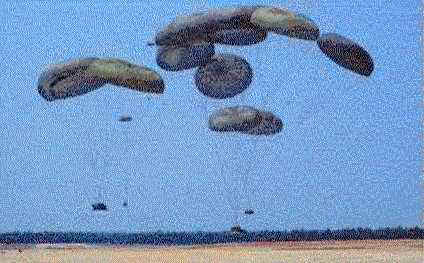 Multiple G-11 parachutes can deliver armored fighting vehicles and supplies up to 30 tons.  Thus, it may be possible to airdrop the M2 Bradley IFV