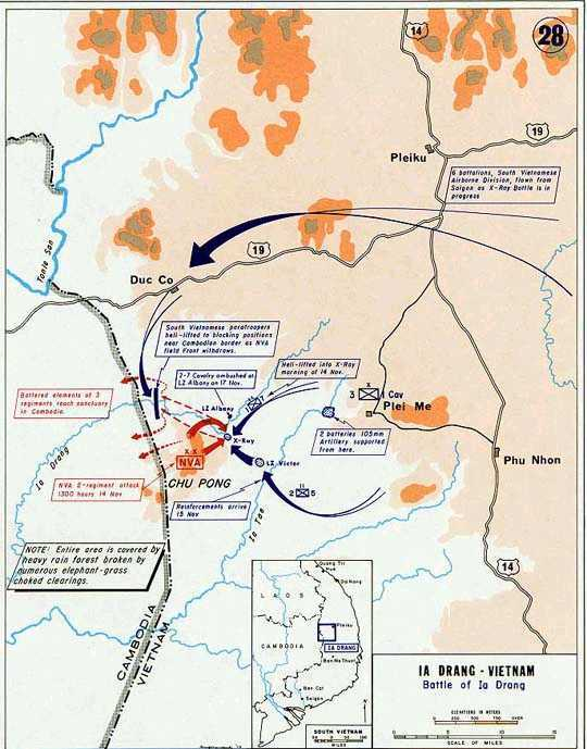 Note the terrain of the 1965 battle