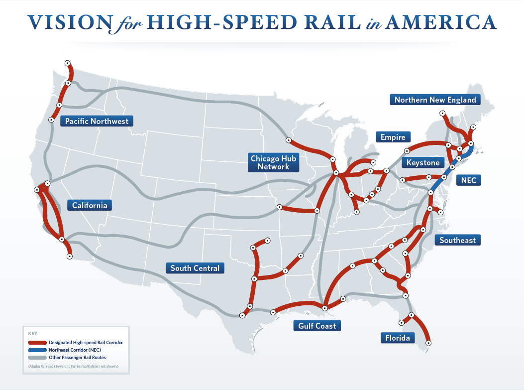 Passenger High Speed Rail In Midwest Page URBAN STL - Us rail speed map