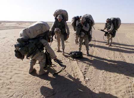 overloaded marines take a time-out breather in afghanistan