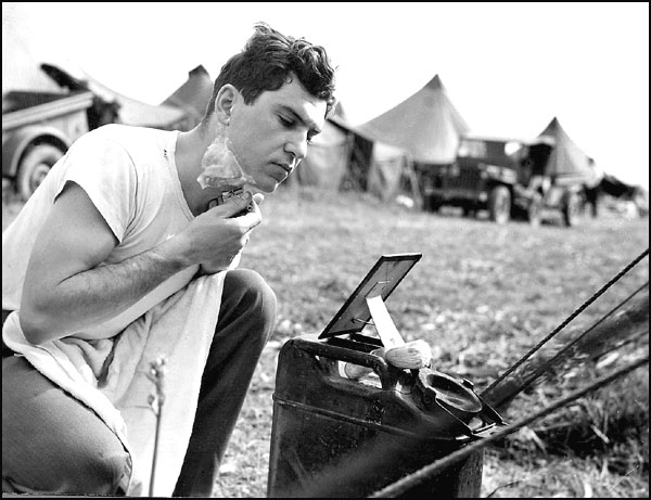 Image result for ww2 british soldier shaving
