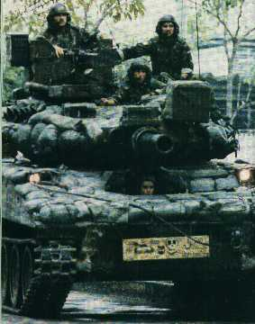 M551 Sheridan in combat in Panama after the world's first combat tank airdrop