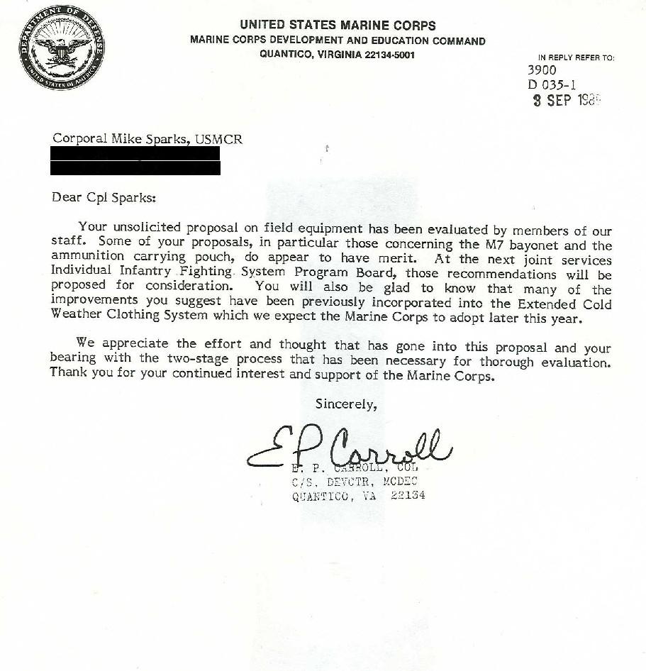 Lieutenant Mike Sparks Usmc